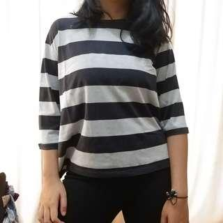 Black & Grey Stripe Shirt