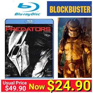 Predators (2010 version) Blu-Ray Movie Disc (Brand New In box and Factory sealed) Usual Price:$49.90 Now $24.90.