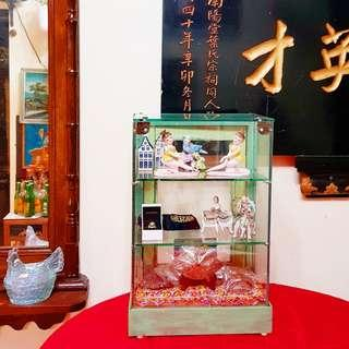 """1950s Cute Little """"Hoon Kee Du"""" or Full Glass Display Cabinet. Good condition   $348, WhatsApp 96337309."""