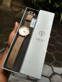 Jam tangan TOMI panamera brown original
