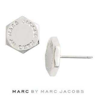 💚現貨💚 Marc by Marc Jacobs earrings Studs Bolt bolt Stud Earrings (Silver) MARC BY MARC JACOBS genuine USA imported Stud 六角形 金色銀色 耳環