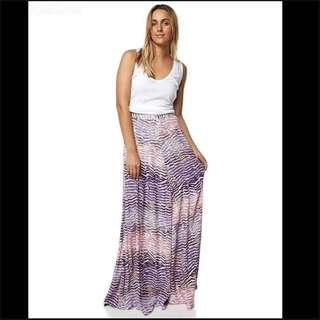 BNWT Tigerlily Cala Maxi Skirt, Purple, Size 10, RRP $189.95