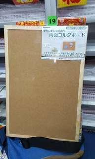 太子店 全新雙面木邊水松板 水松版  450x300mm 可訂做