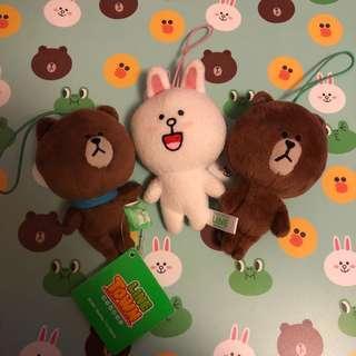 Line Friends 日本景品公仔 Brown Cony 熊大 兔兔