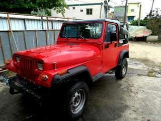 高雄 自售 Jeep Wrangler 藍哥/四輪傳動/吉普車/越野車/選舉宣傳/2400c.c [車況良好]