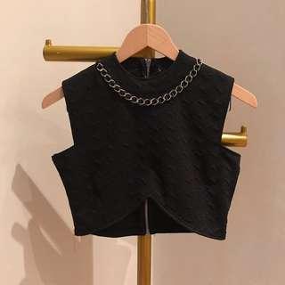 Premium black chain necklace
