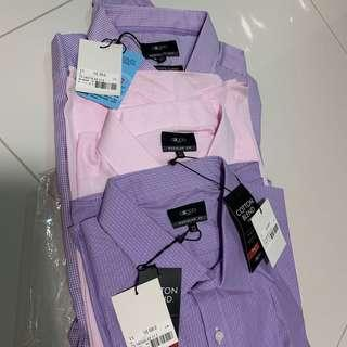 Pack of 3 new office shirts