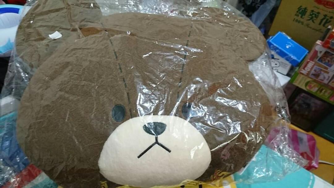 熊熊大型抱枕屁墊枕靠枕