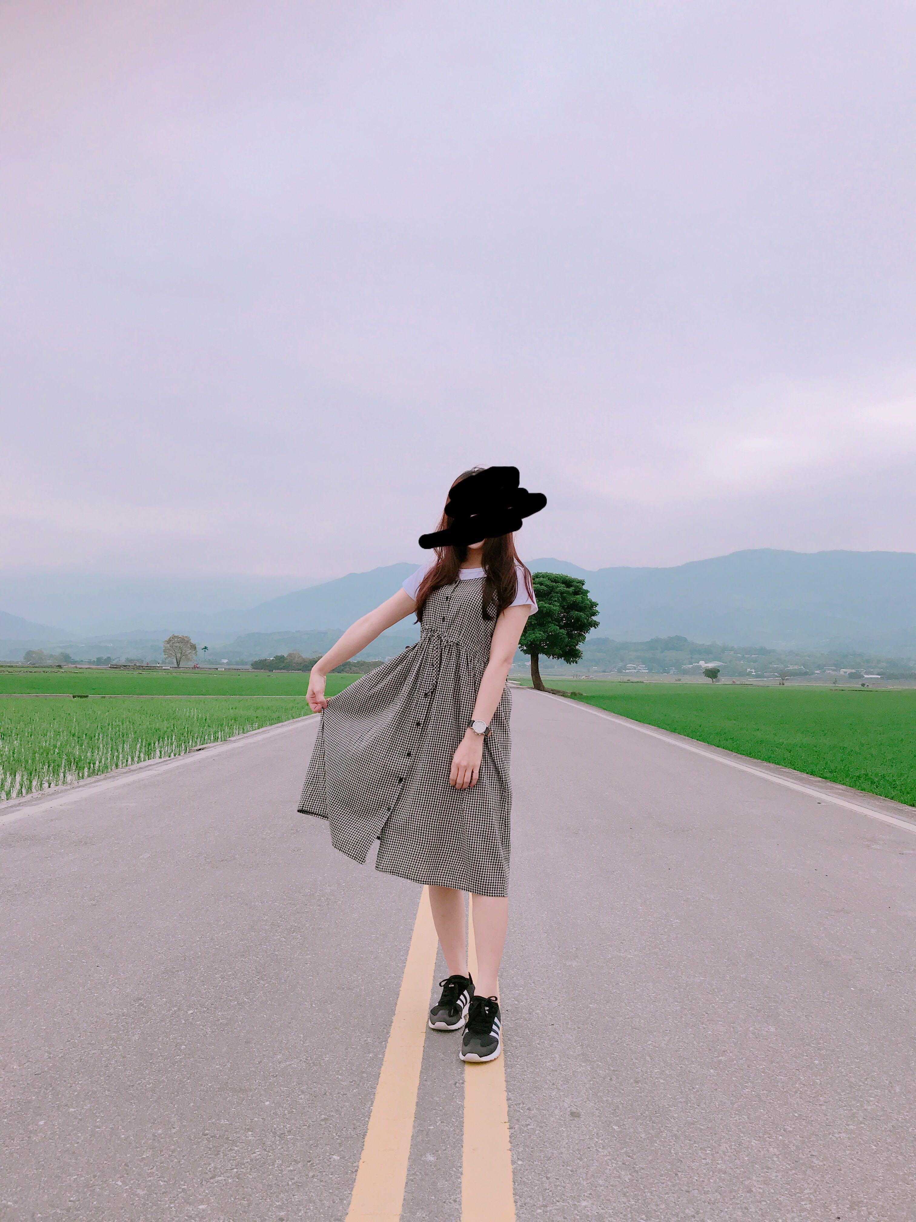 黑白格子長裙 洋裝