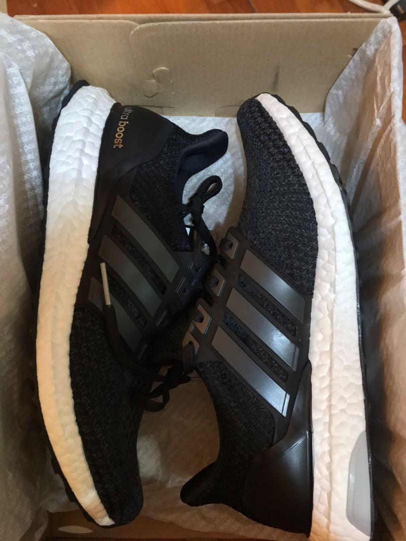 sneakers for cheap a4562 9b7f4 全新未剪牌 Adidas UltraBoost 2.0 Core Black BB3909