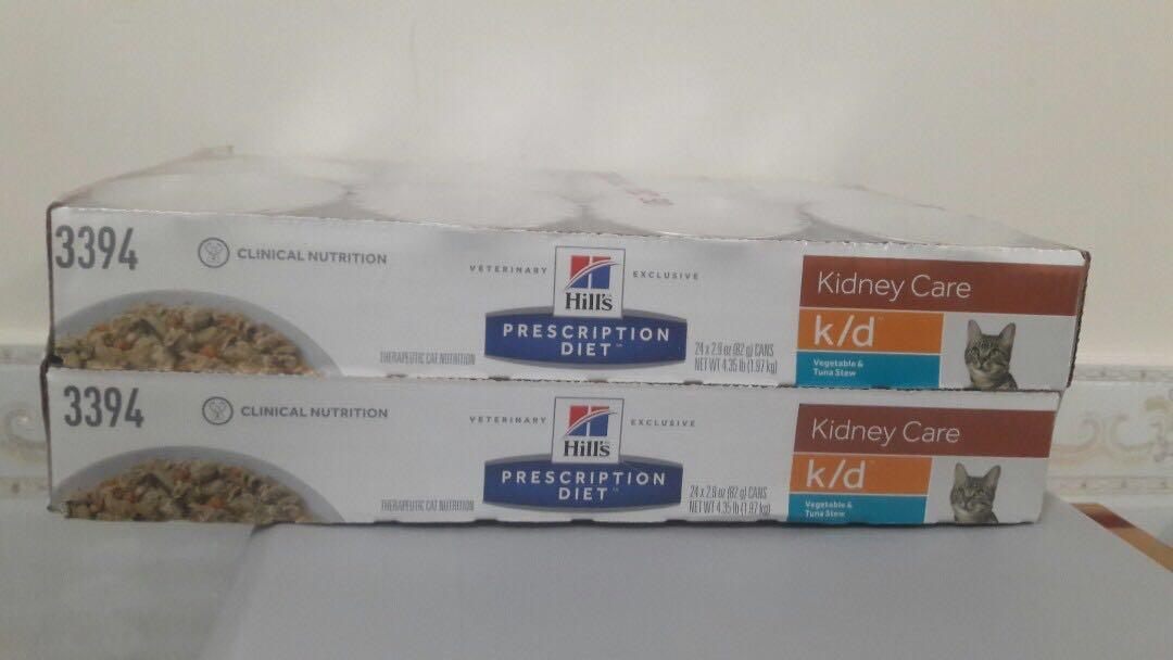 ღ Hill's  貓咪 k/d 腎臟護理 處方罐頭 $360👉鮪魚燉蔬菜味2.9oz   一盆24罐