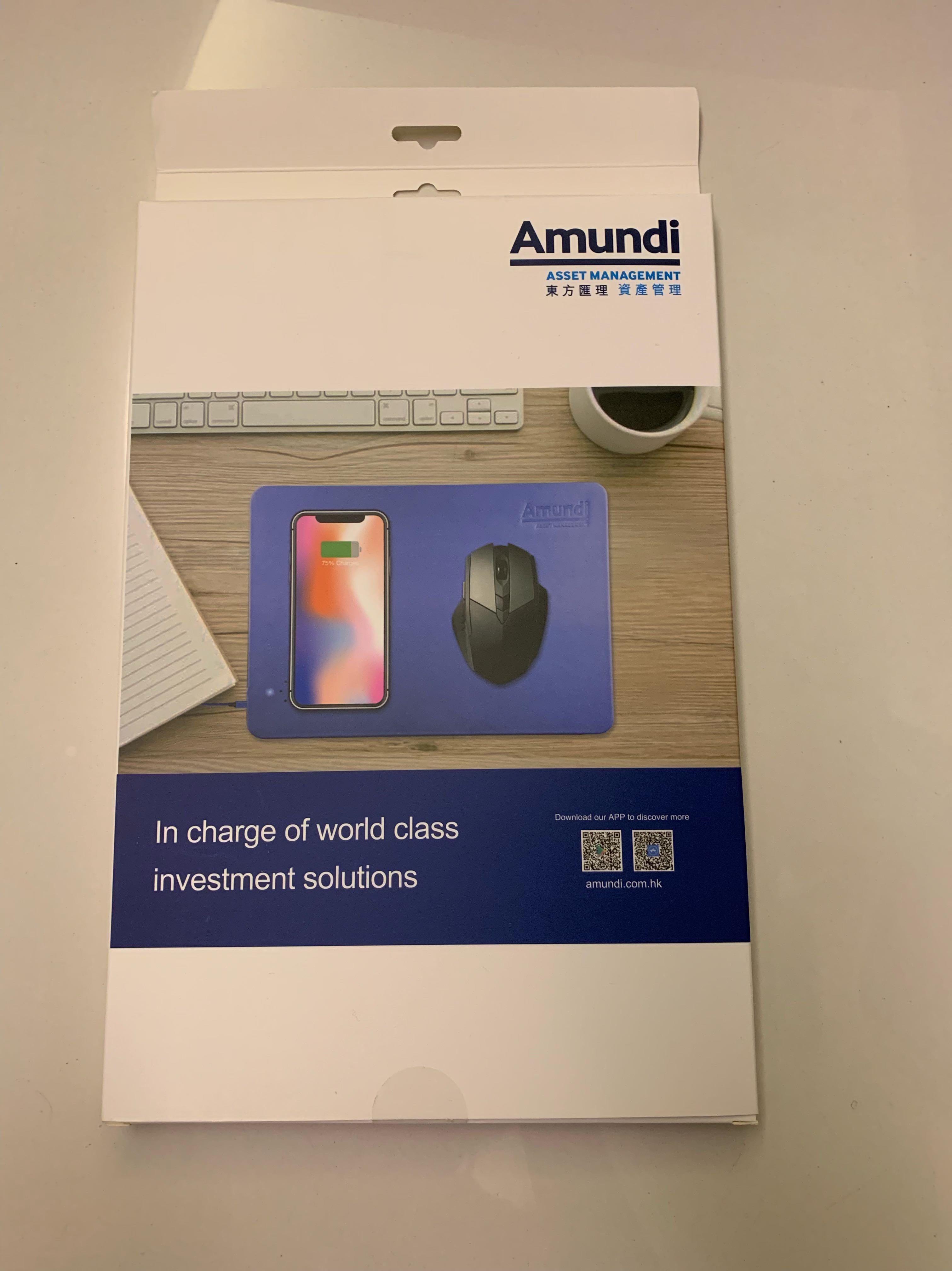 全新無線滑鼠充電板 NEW wireless charging mouse pad (blue)