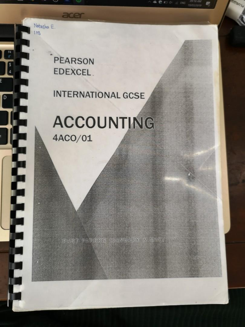 Accounting IGCSE Past Year Papers on Carousell