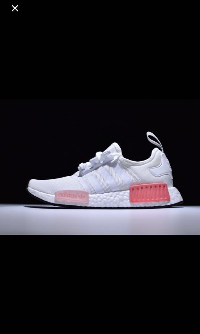 Conception innovante 45770 8dea8 Adidas NMD R1 white rose