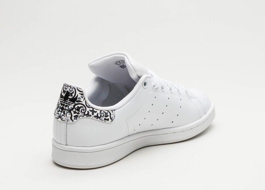 best website ad265 707ea Adidas Stan Smith Floral Black White Limited Edition Sneaker ...