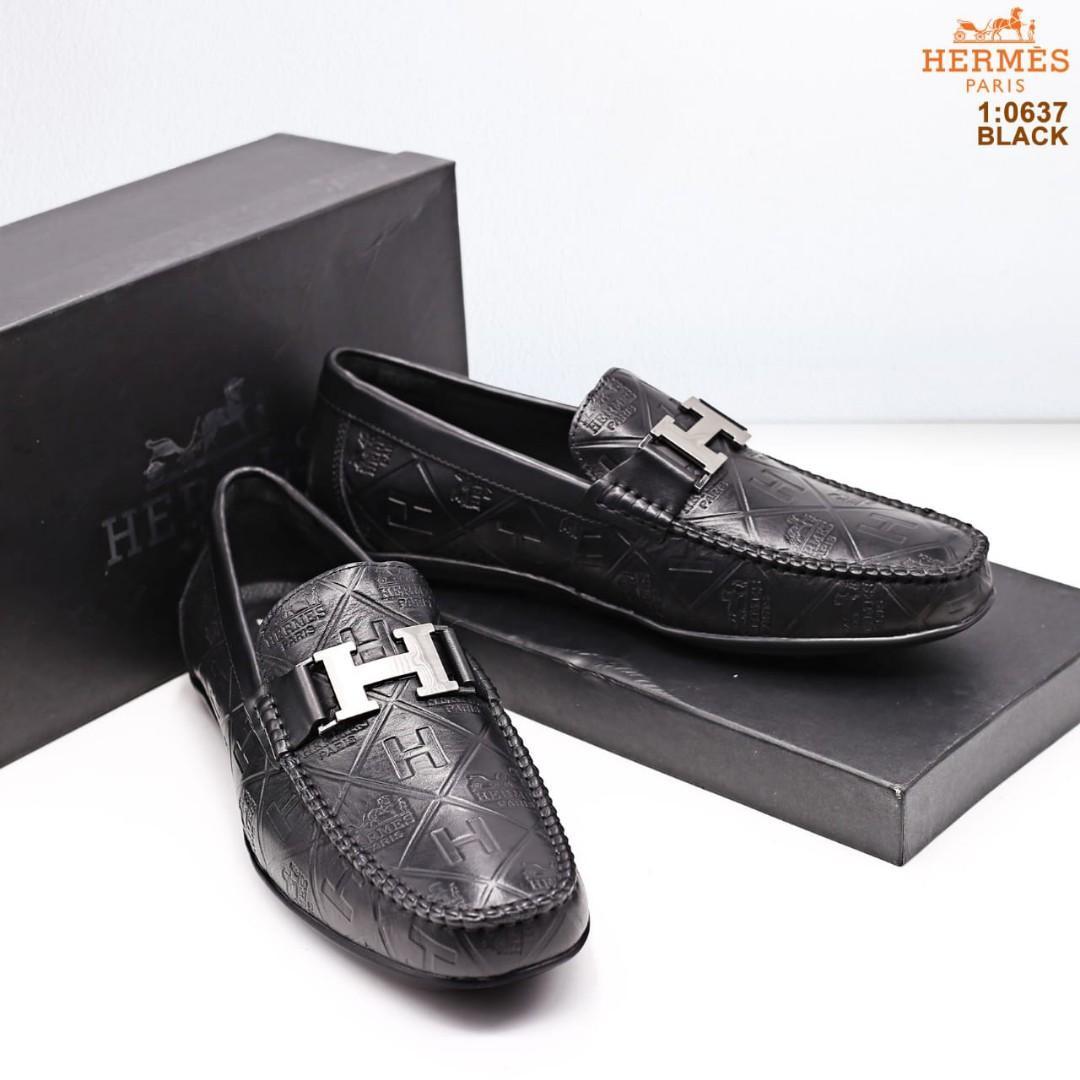 Asli Import Sepatu Hermes Kulit Asli Fesyen Pria Sepatu Sepatu
