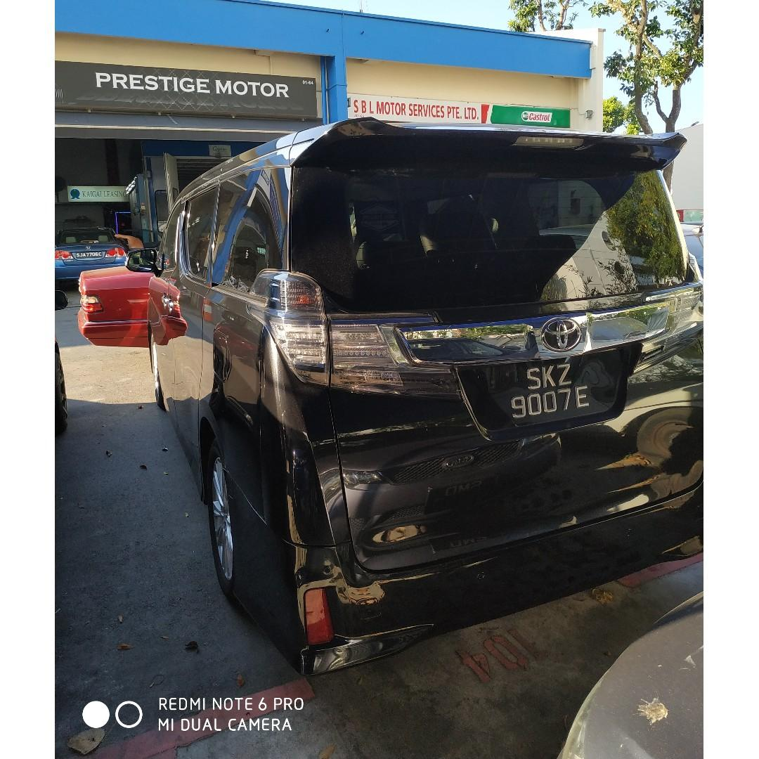 Attn All Private Hirer & Limousine Drivers Toyota Velifire For Lease