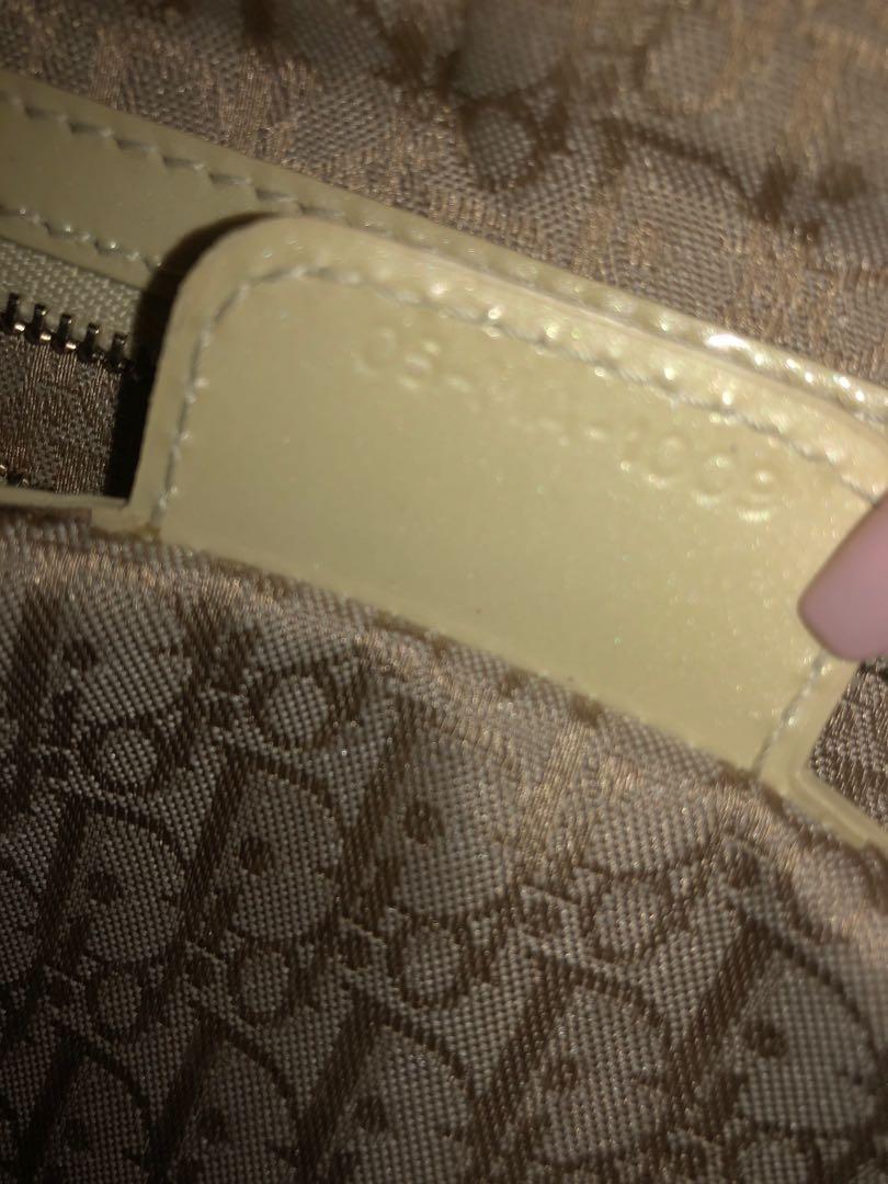 Authentic Metallic Patent Cannage Medium Lady Dior Yellow