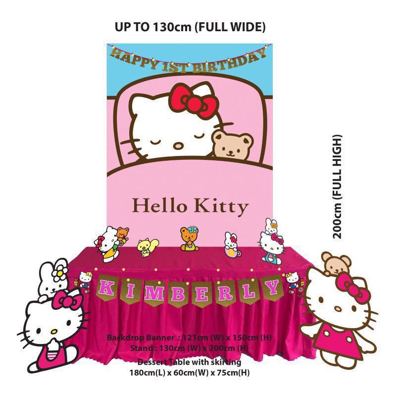 402915f0e Birthday Party Decoration - Hello Kitty Style<option 1 to 9>, Design ...