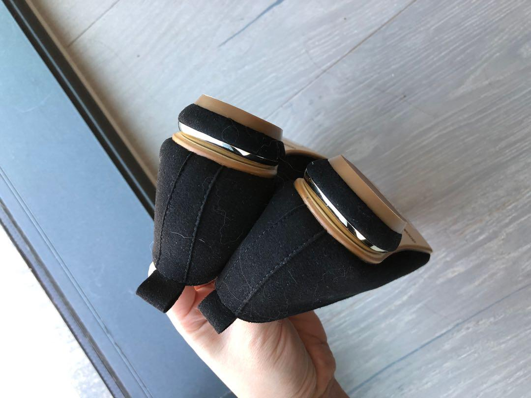 Black loafers size 36
