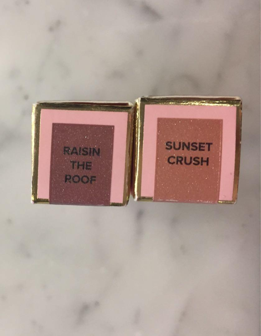BNIB TOO FACED RICH & DAZZLING LIPGLOSSES (swipe for shades)