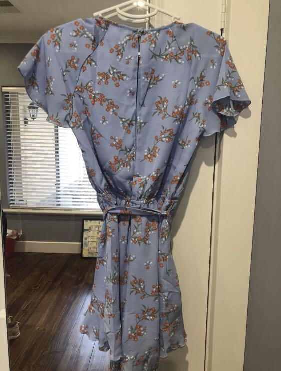 BNWT Atmos & Here Frill Playsuit Blue Floral Size 6 From The Iconic