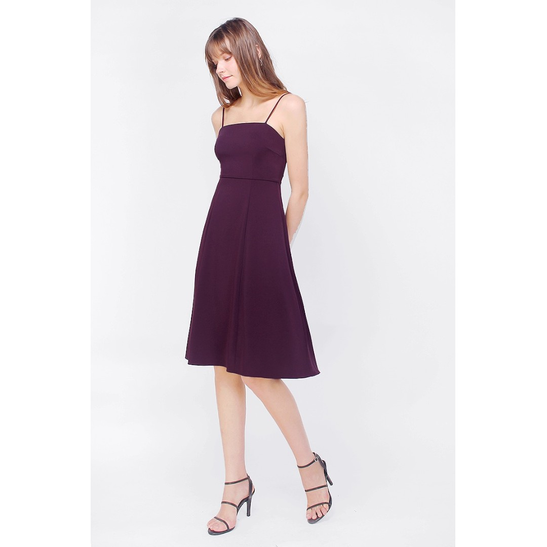 0cd0db4cd5a7 BNWT🎉 FAYTH Tilly Pleated Midi Dress in Deep Purple