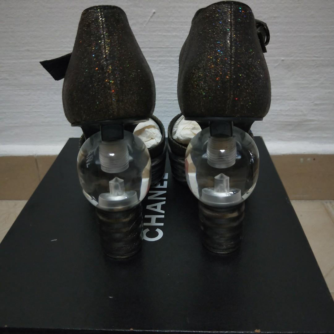 Chanel Light Bulb heels