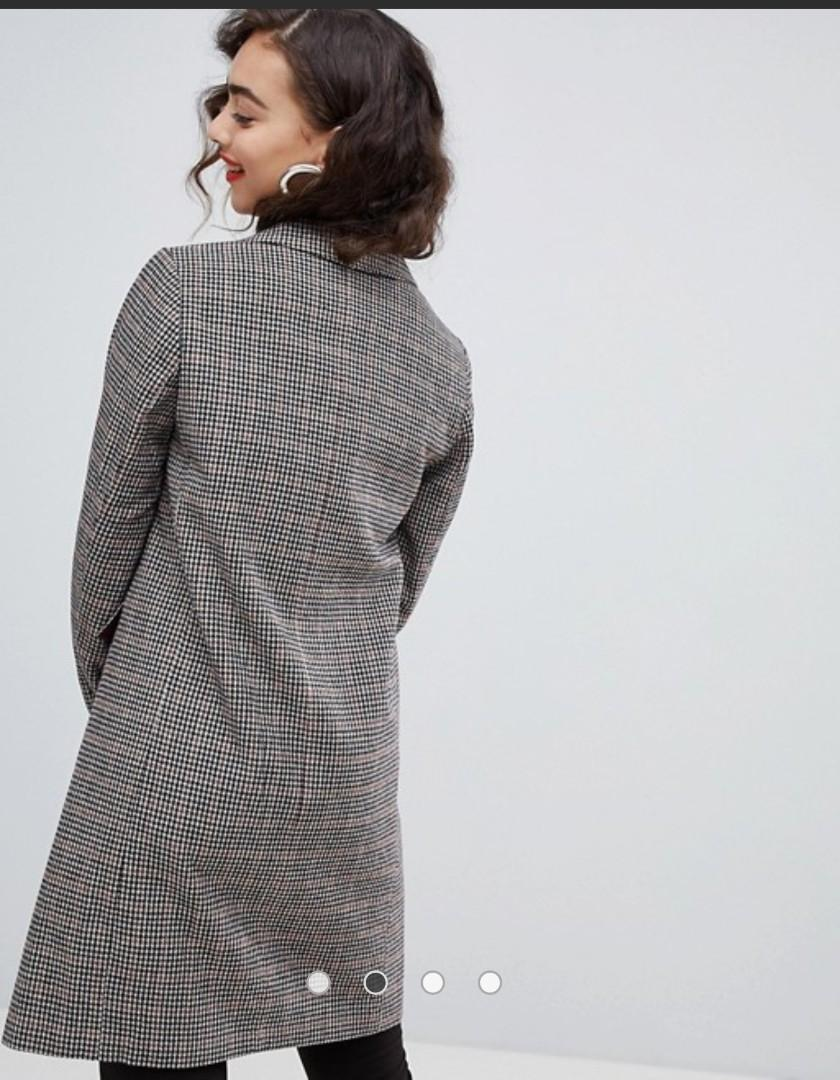 Check Tailored Coat