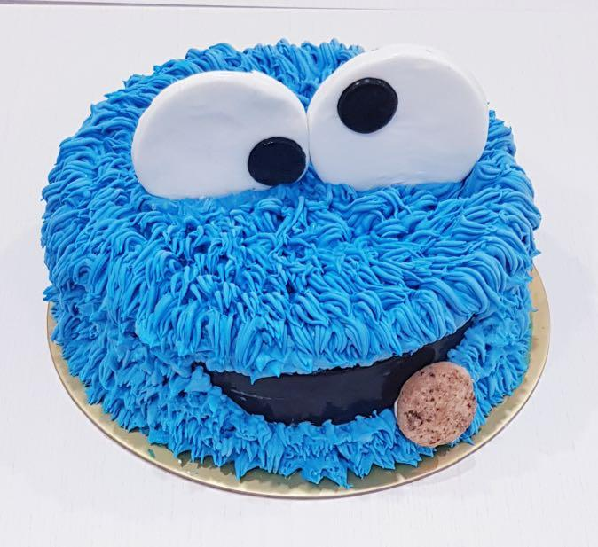 Phenomenal Cookie Monster Birthday Cake Food Drinks Baked Goods On Carousell Funny Birthday Cards Online Fluifree Goldxyz