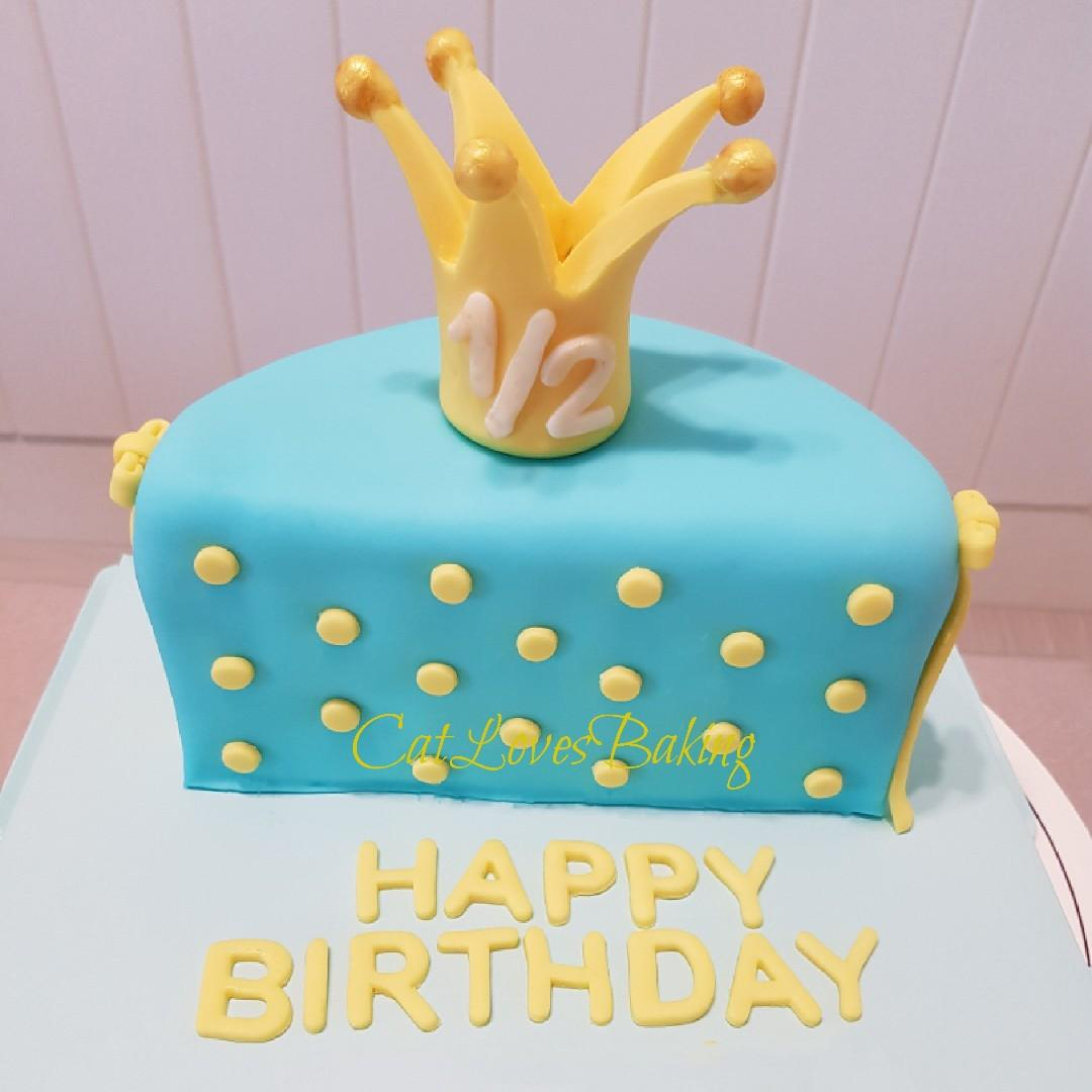 Amazing Customised Cake Half Birthday Cake Food Drinks Baked Goods Personalised Birthday Cards Veneteletsinfo