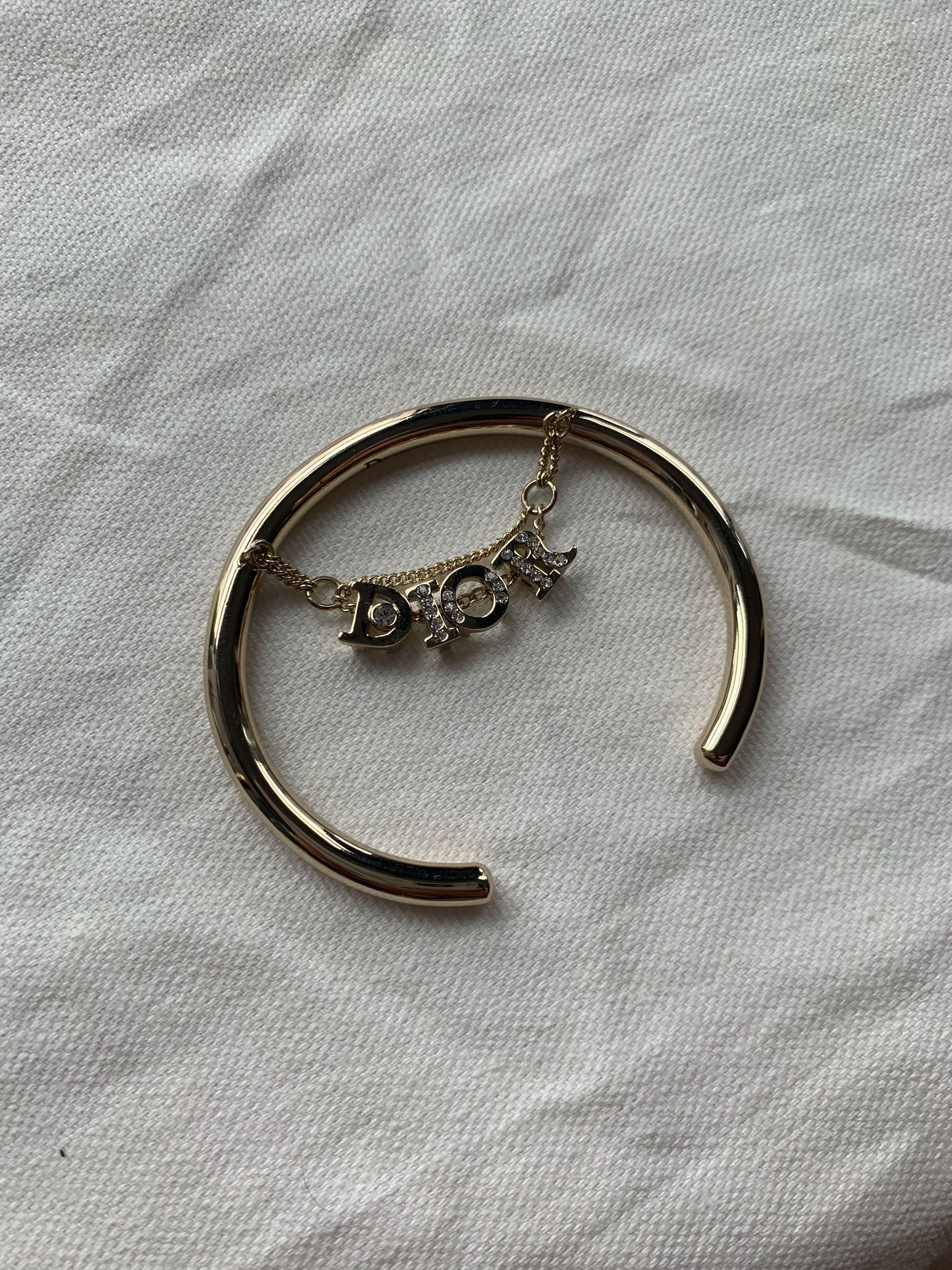 Dior Logo Cuff Bangle Bracelet