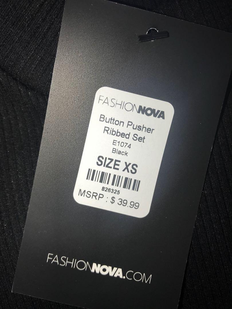 FASHION NOVA Black Set