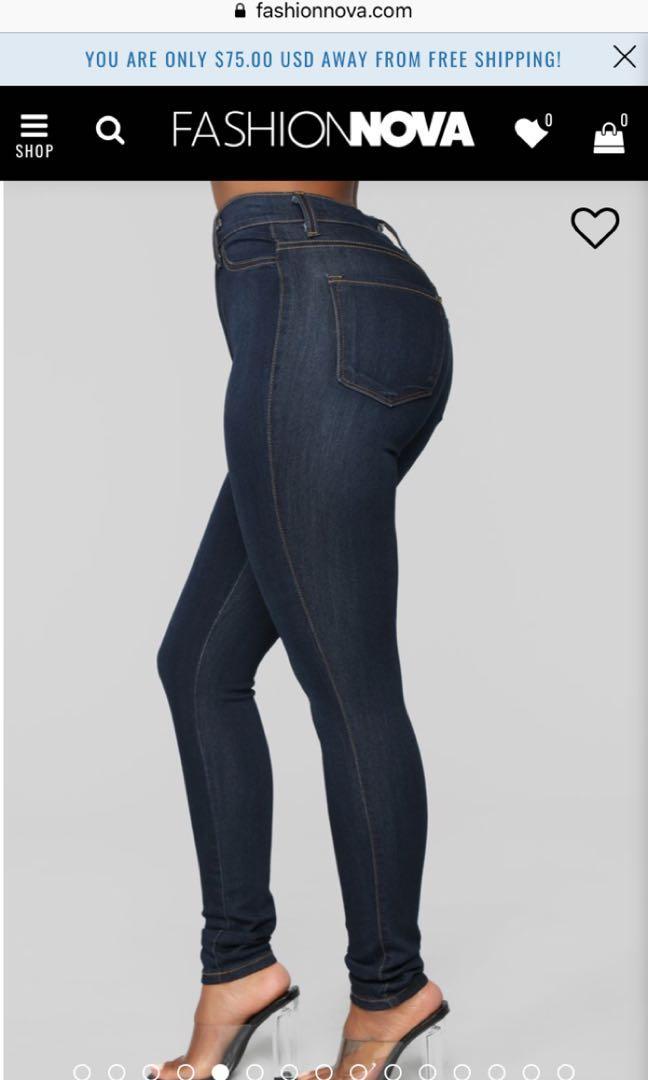 Fashionnova- Classic High Waist Skinny Jeans Dark Denim