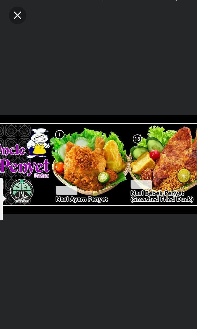 Halal Ayam Penyet Stall Assistant