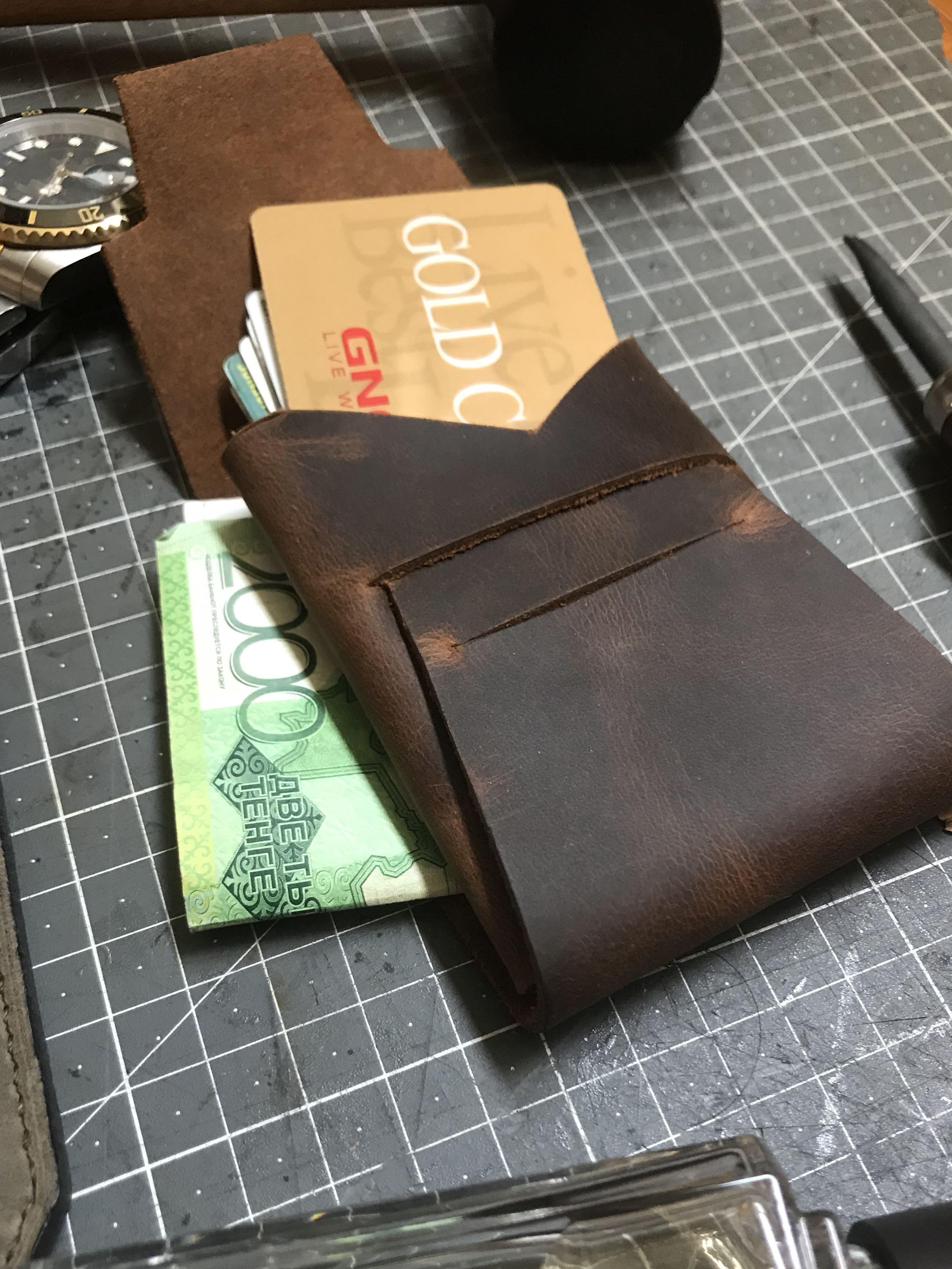 Handmade Leather minimalist Wallet