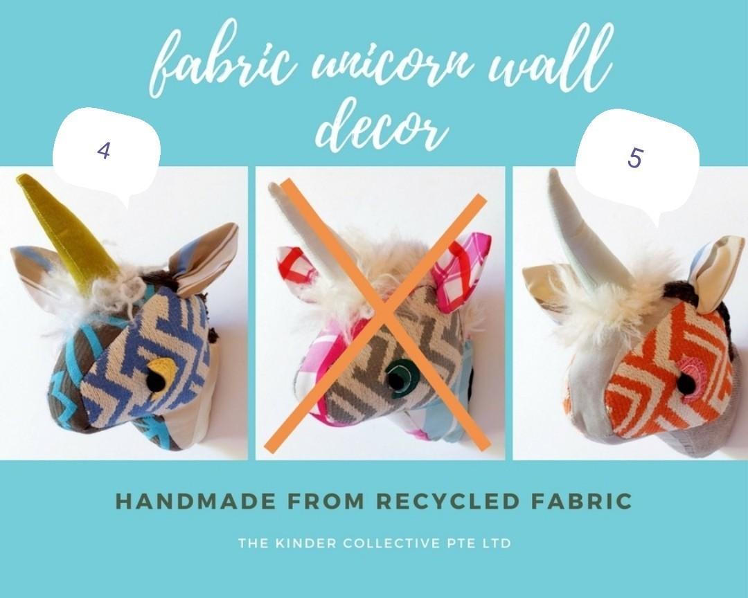 Buy 1 get 1! Handmade Unicorn Baby Room Wall Mountable Decor