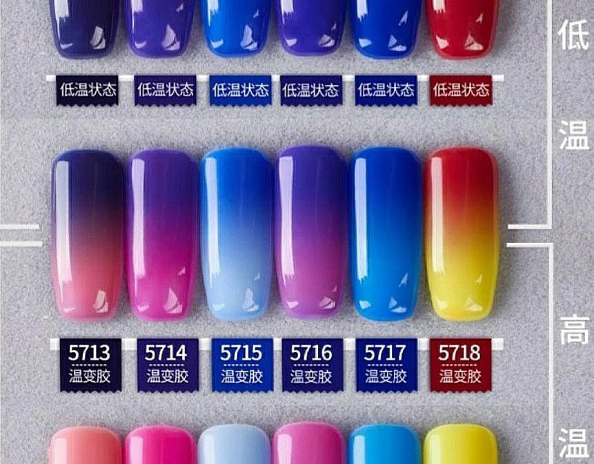 6bd1281b23c2fa INSTOCK Thermal Sensitive Series Gel Polish X60 Colors (P2), Health ...