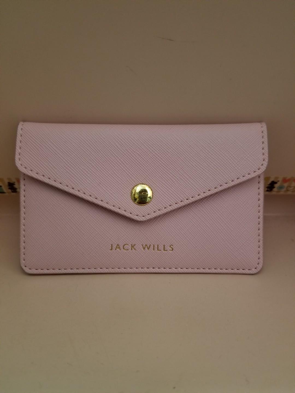 Jack wills cardholder 粉紅卡套