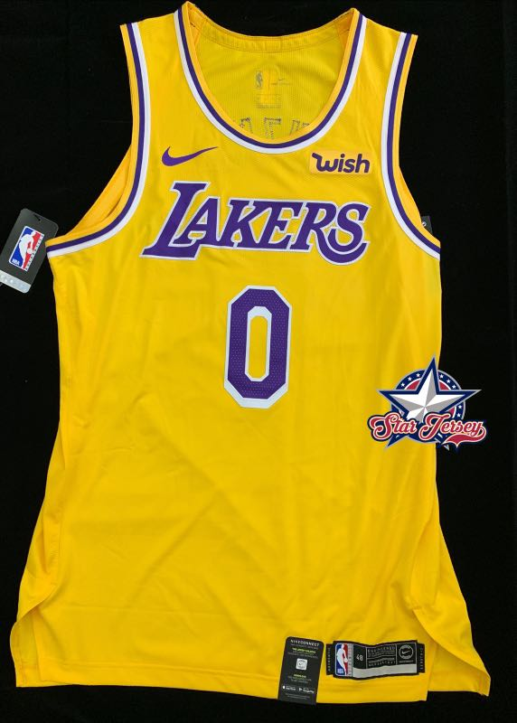 online store 09549 2d6c4 Kyle Kuzma Lakers Authentic Jersey with sponsor patch