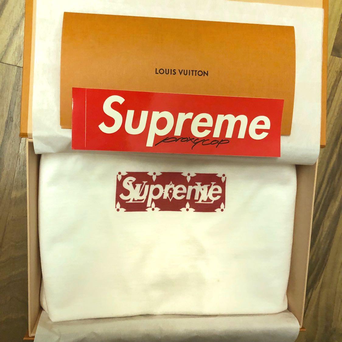 28178c6f Louis Vuitton x Supreme Box Logo Tee Size XXL, Men's Fashion, Clothes, Tops  on Carousell