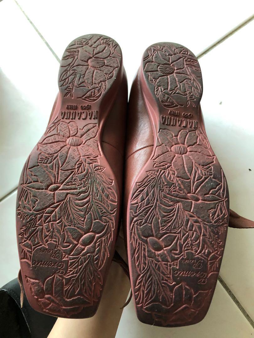MACANNA 麥肯納 真皮裸粉色娃娃鞋