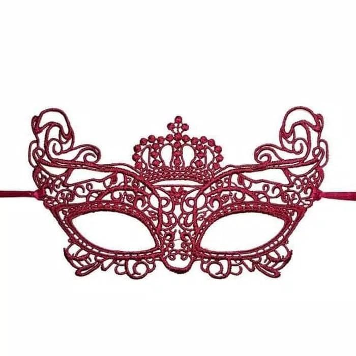 Mask Topeng Wajah Mahkota Raja Penutup Mata Aksesoris
