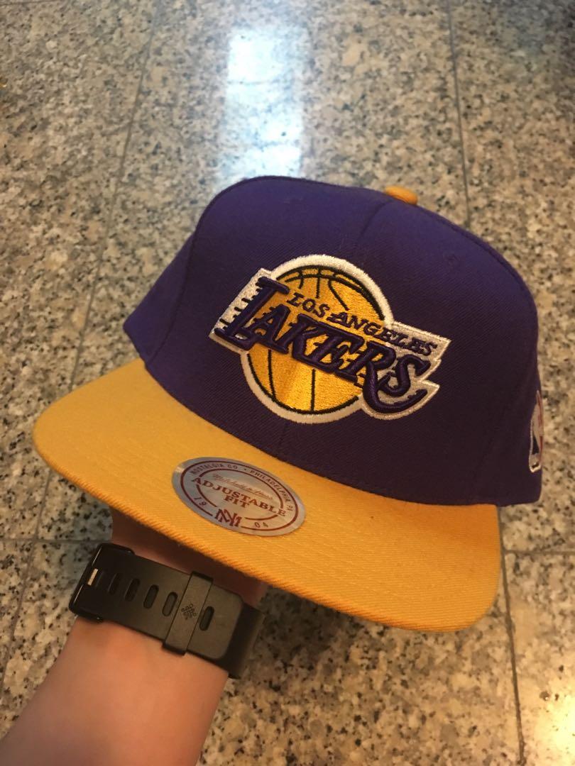 083f61b5 Mitchell & Ness Los Angeles Lakers Basketball NBA Snapback Cap Hat ...