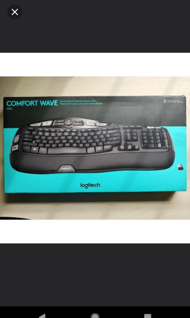 K350 Comfort Wave Logitech keyboard