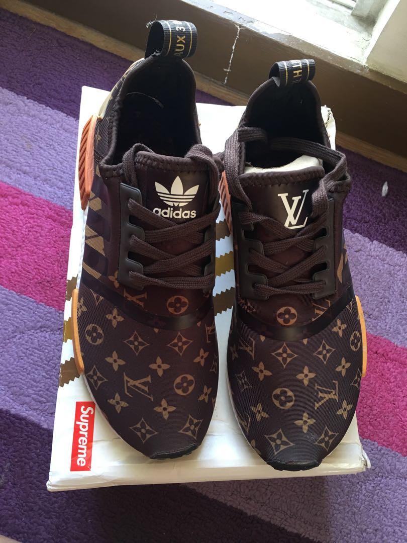 OEM Supreme x Louis Vuitton x Adidas nmd R1 on Carousell