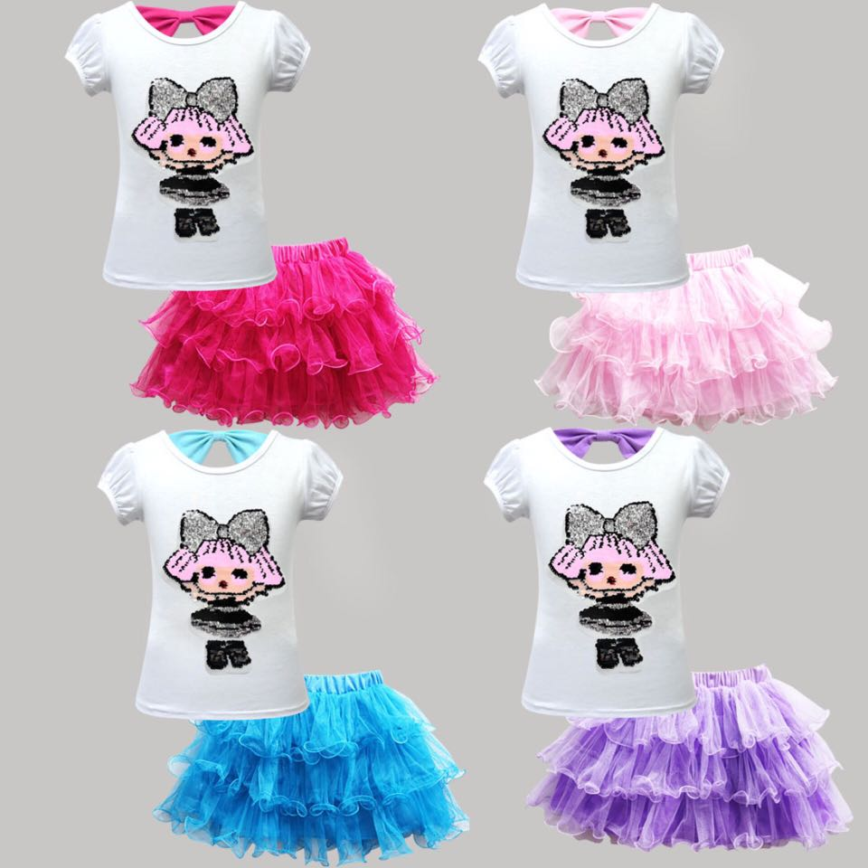 6d2f5f06c PO LOL Surprise Doll Reverse Sequin Tutu Skirt Set, Babies & Kids ...