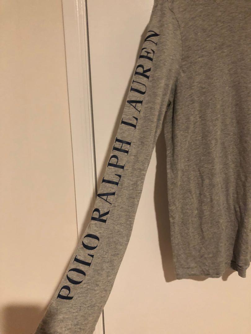 Polo Ralph Lauren Grey Long Sleeve Shirt (M)