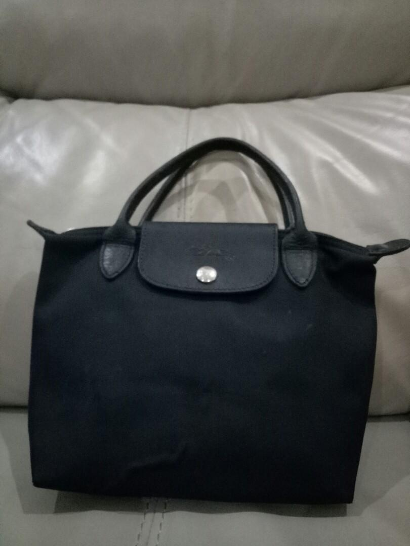 PRELOVED/SECOND/SEKEN/BEKAS TAS LONGCHAMP MINI PLANETS BAG COLOR BLACK