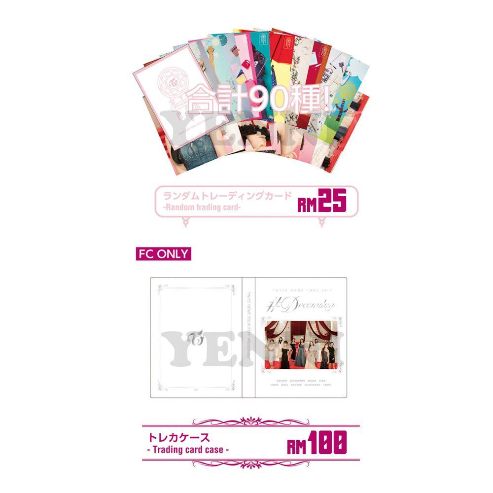 [PREORDER] TWICE Dream Day Dome Tour Random Trading Card and Trading card case